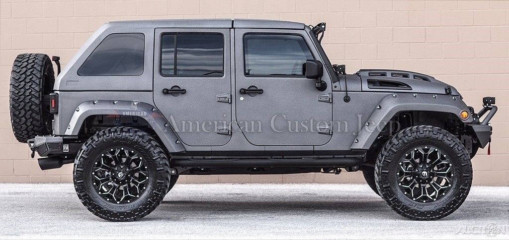 Great 2017 Jeep Wrangler Custom Unlimited Sport Utility 4