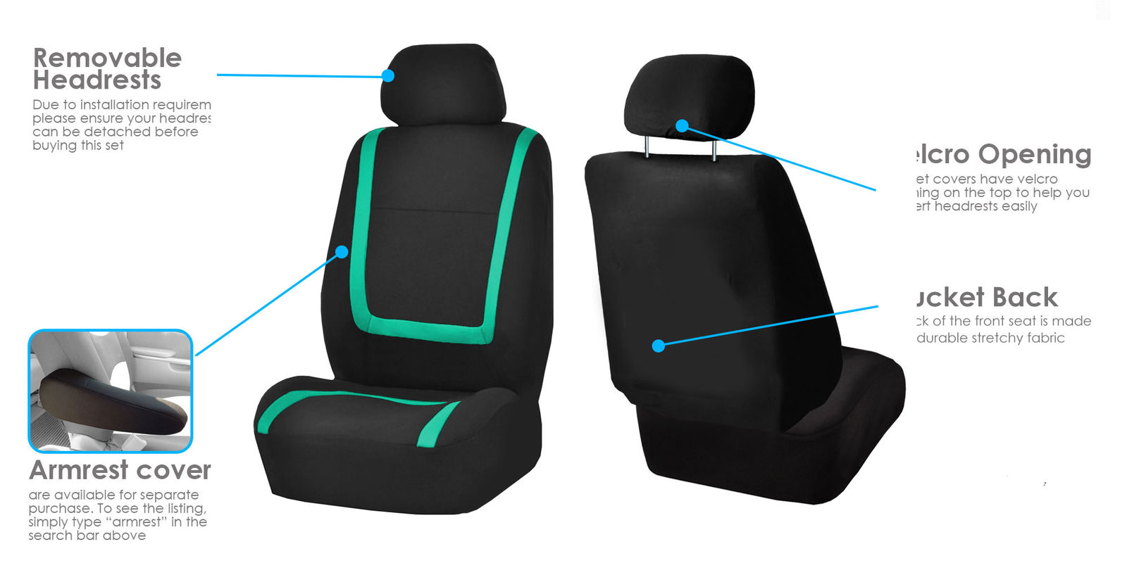 Awesome Auto Seat Covers For Car Sedan Truck Van Universal Seat