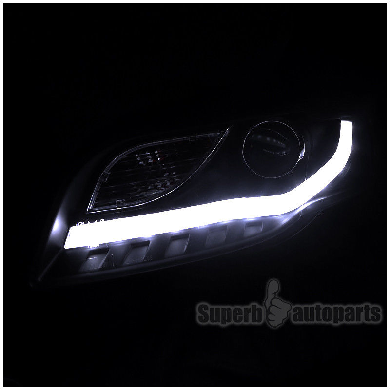 Great 2006 2008 Audi A4 Projector Headlights Wbmw Style Led Drl
