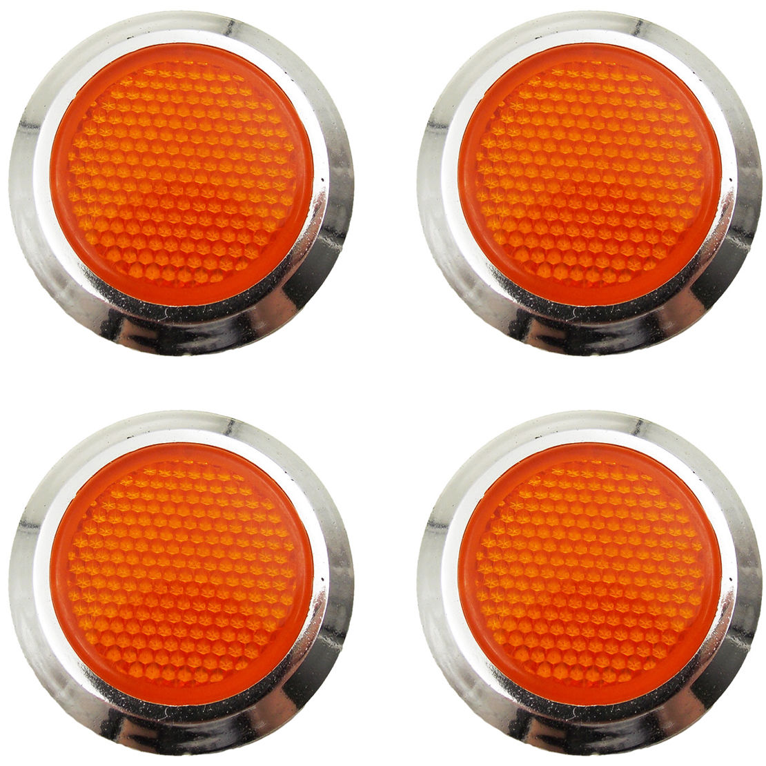 Amazing 4x Orange Reflective Car Motorcycle Sticker Reflector Round Chrome Self Adhesive 2018 2019