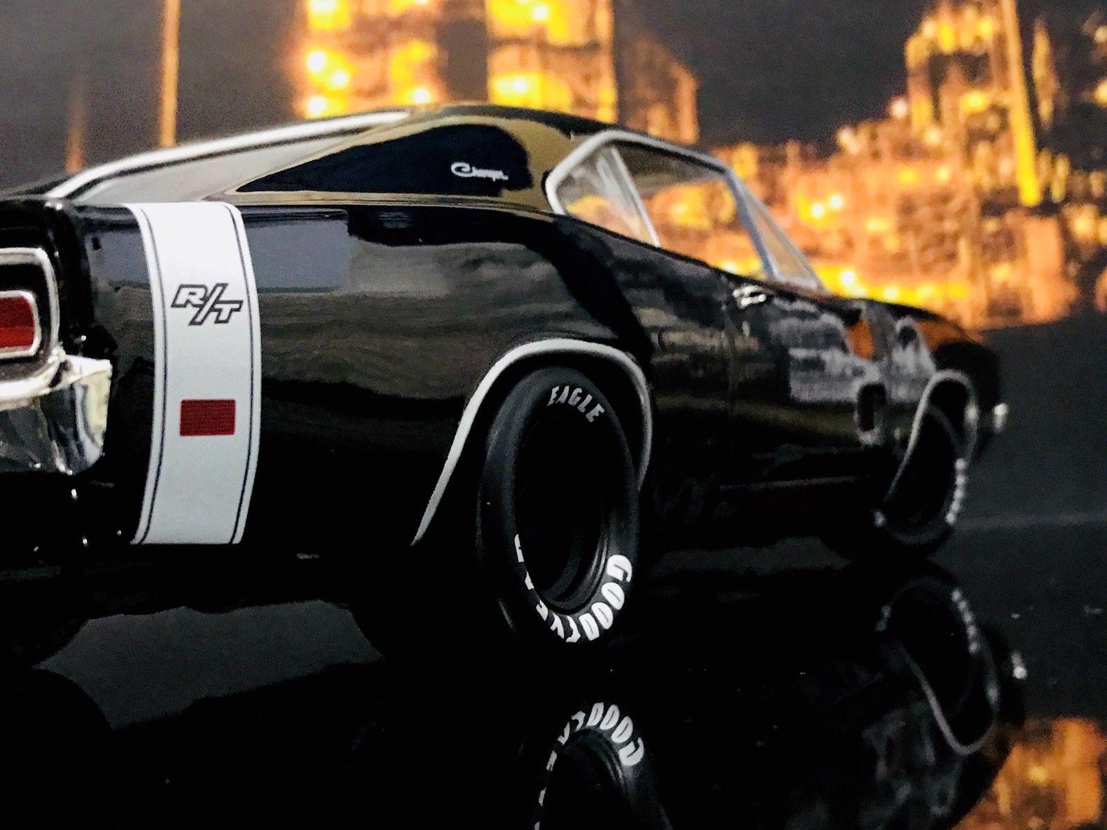 Custom Ertl 1969 Dodge Charger R T Black Hemi Le 2017 2018 24carshop Com