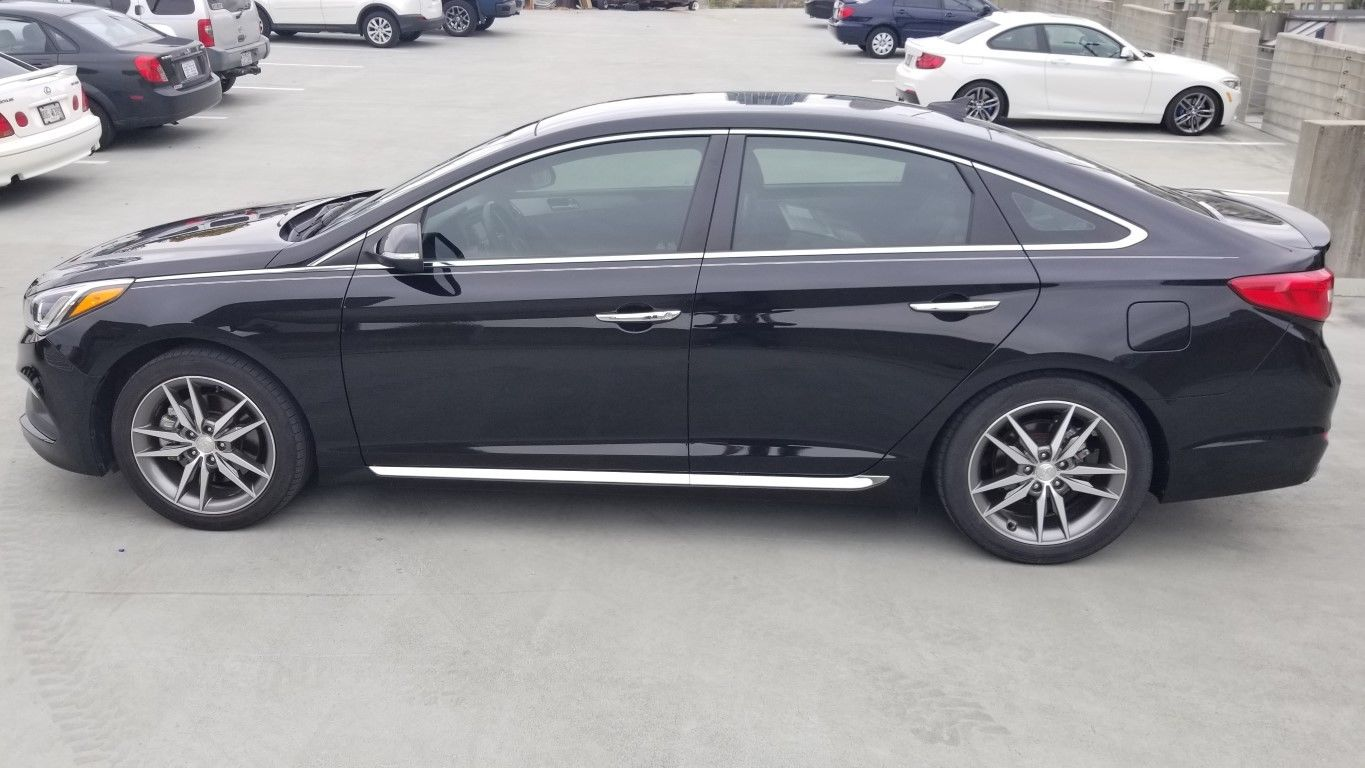 Awesome 2017 Hyundai Sonata Sport 2 0t Sedan 4 Door Turbo Black 000 Under Kbb Value 2018