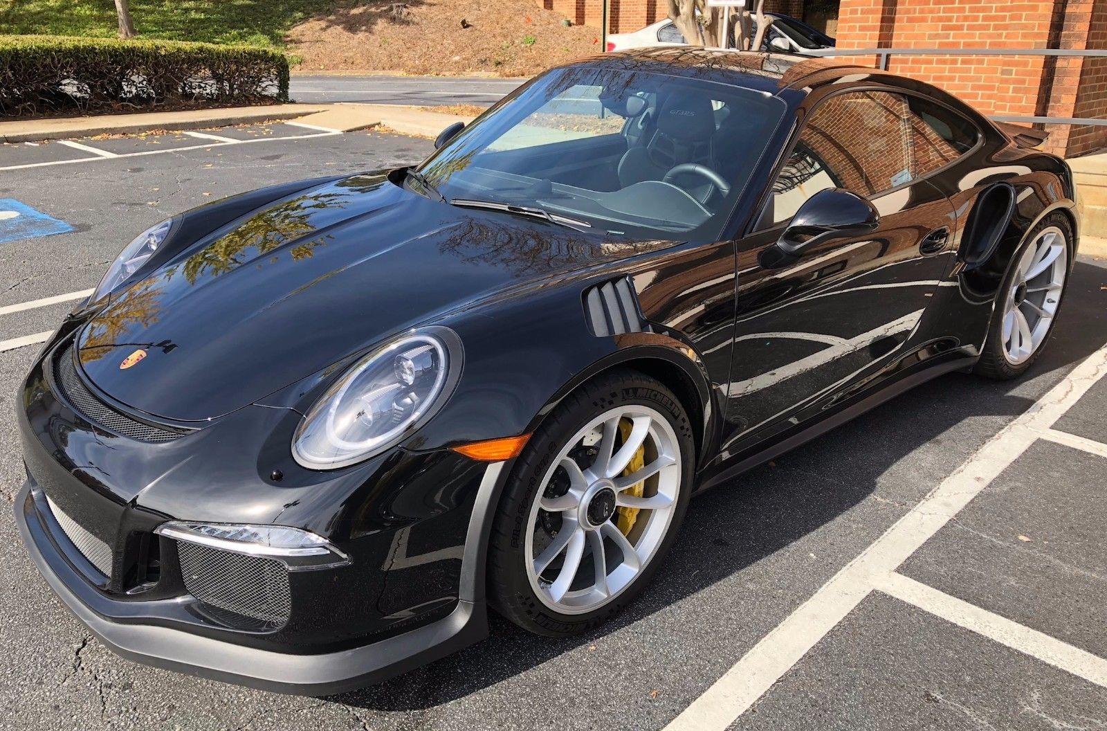 Amazing 2016 Porsche 911 GT3 RS 2016 Porsche GT3 RS \u2013 Paint to Sample Black  \u2013 CPO\u2019d \u2013 Only 855 Miles! 2017/2018