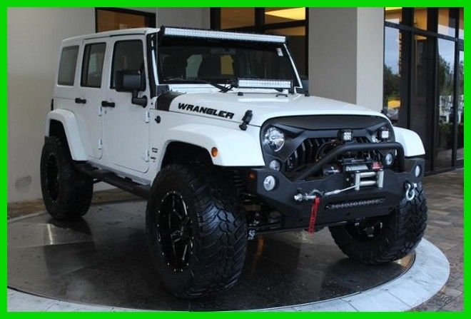 Amazing 2017 Jeep Wrangler White Sport Unlimited Customized Lifted 3 6l V6 24v Automatic 4wd 2018