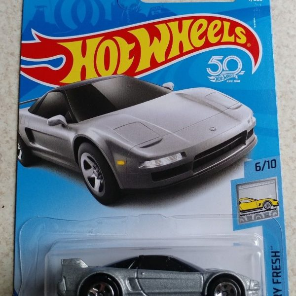 Great Hot Wheels. Silver. 2017. '90 Acura NSX 2017 2018
