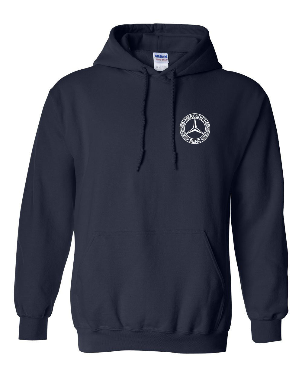 Navy hooded sweater her sweater for Mercedes benz sweater