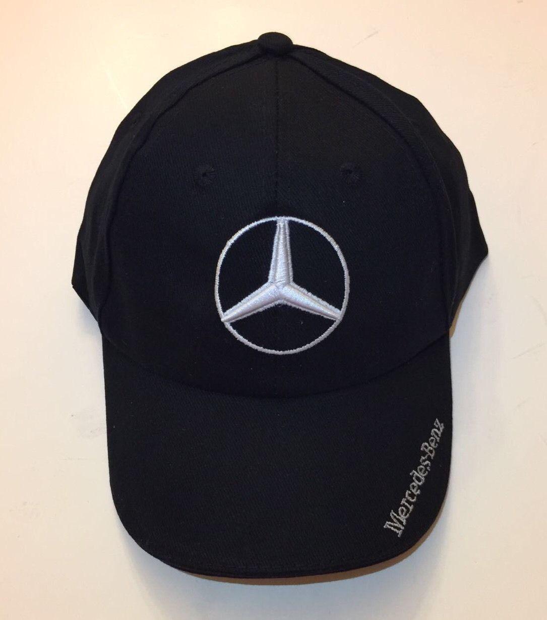 Awesome NIB Mercedes Benz With Logo Black Hat Cap Adjustable 2017 2018 099ba86c517
