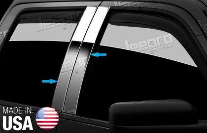 TYGER For 2014-2016 Mercedes-Benz CLA Series 4PC Stainless Steel Pillar Post