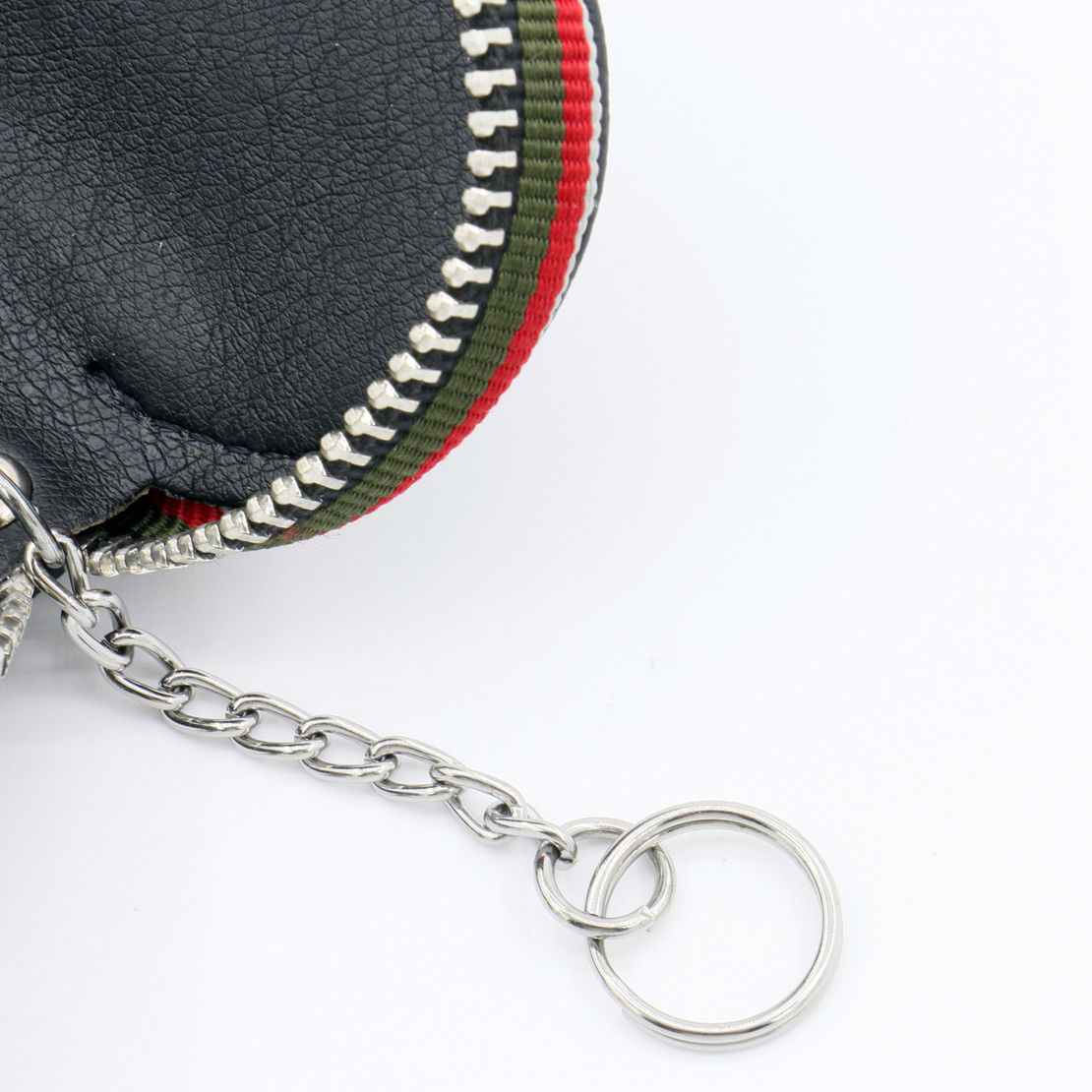 Used Universal PU Leather Car Remote Zipper Key Holder