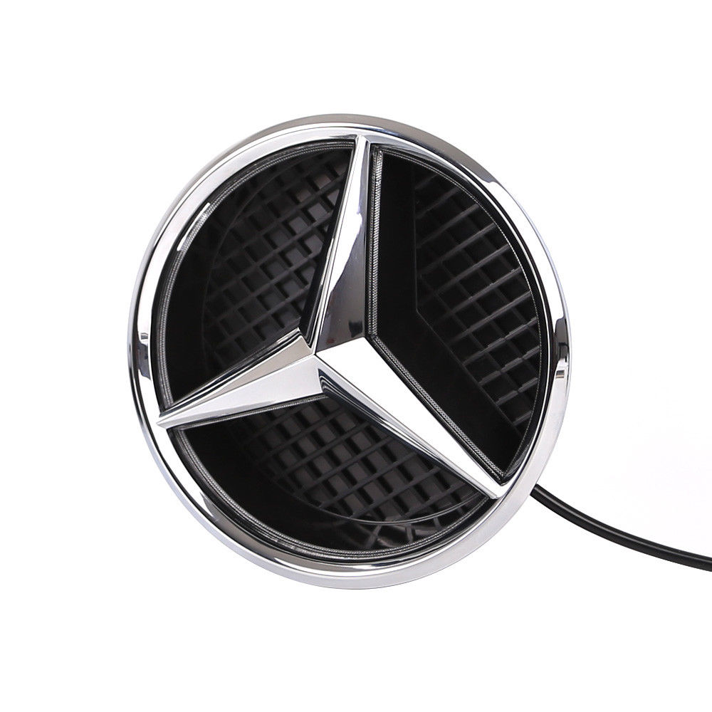 awesome illuminated led light sport front grille star emblem  mercedes benz