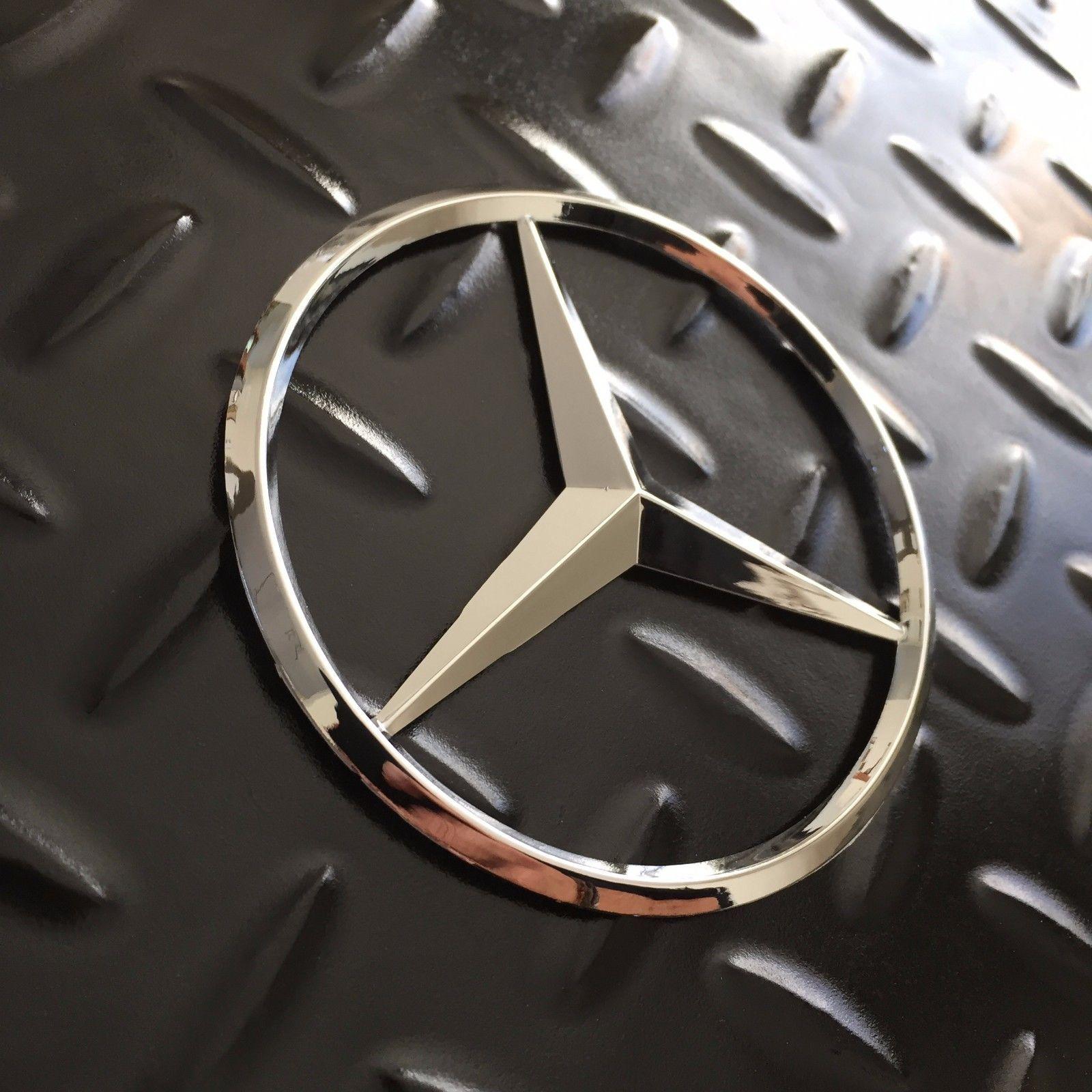 "3.5/"" 90mm FOR Mercedes-Benz Trunk Chrome Star Emblem Badge Logo NEW"