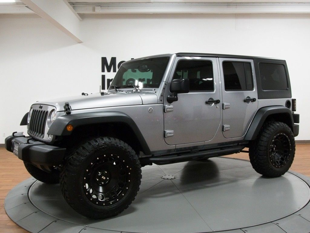 Awesome 2017 Jeep Wrangler Unlimited Sport S 3500 Miles Billet Silver Metallic Clear Coa 2018