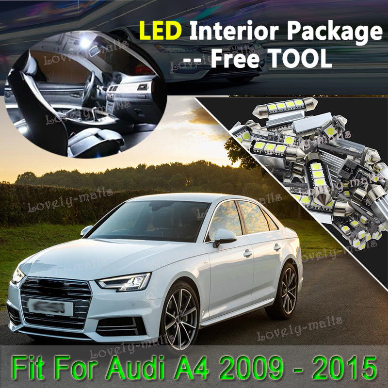 Audi A4 2015 Led Lights: Used 18x White Interior LED Lights Package Kit For 2015