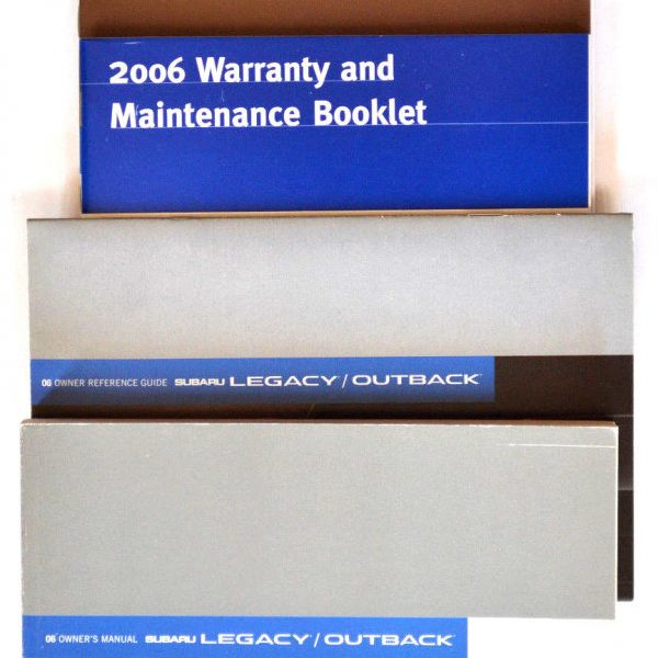 2006 SUBARU LEGACY /& OUTBACK OWNERS MANUAL 06 OWNER/'S