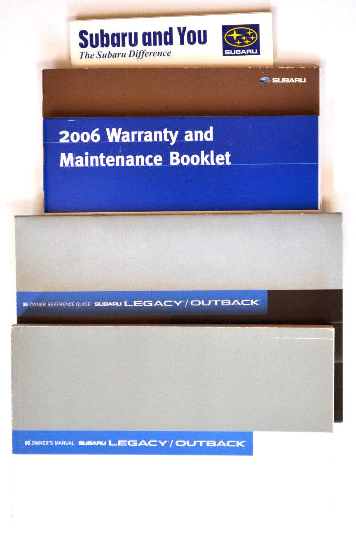 Amazing 2006 Subaru Legacy/Outback owners manual 2018-2019