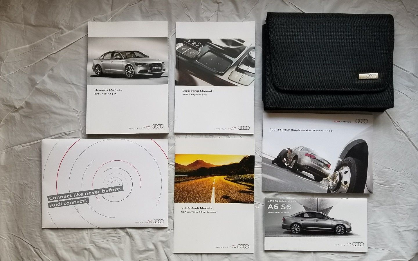 Awesome 2015 Audi A6 / S6 Owner Manual with Navigation Guide and Case  2018-2019