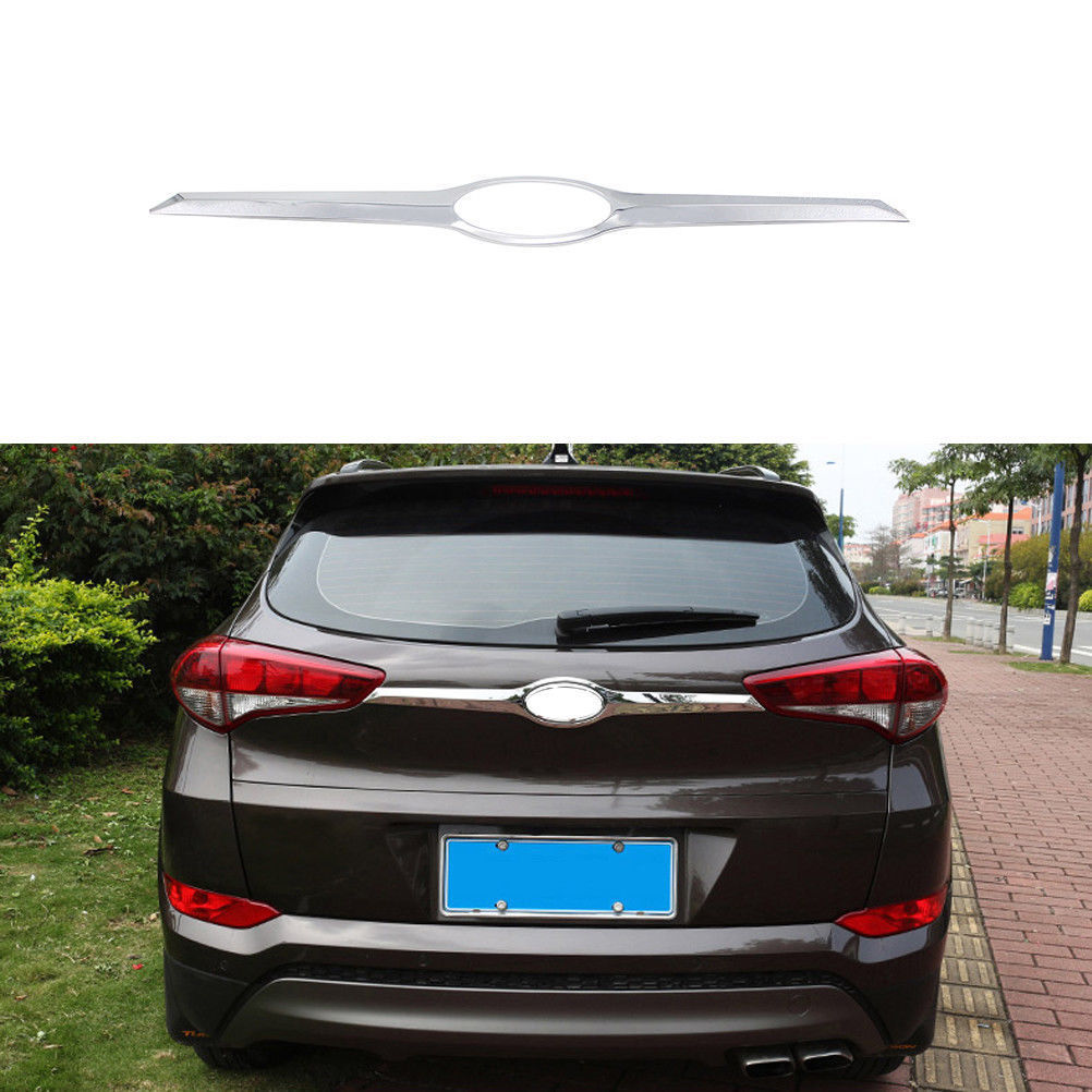 ABS Chrome Rear Trunk Lid Decoration Cover Trim For Hyundai Tucson 2016-2017