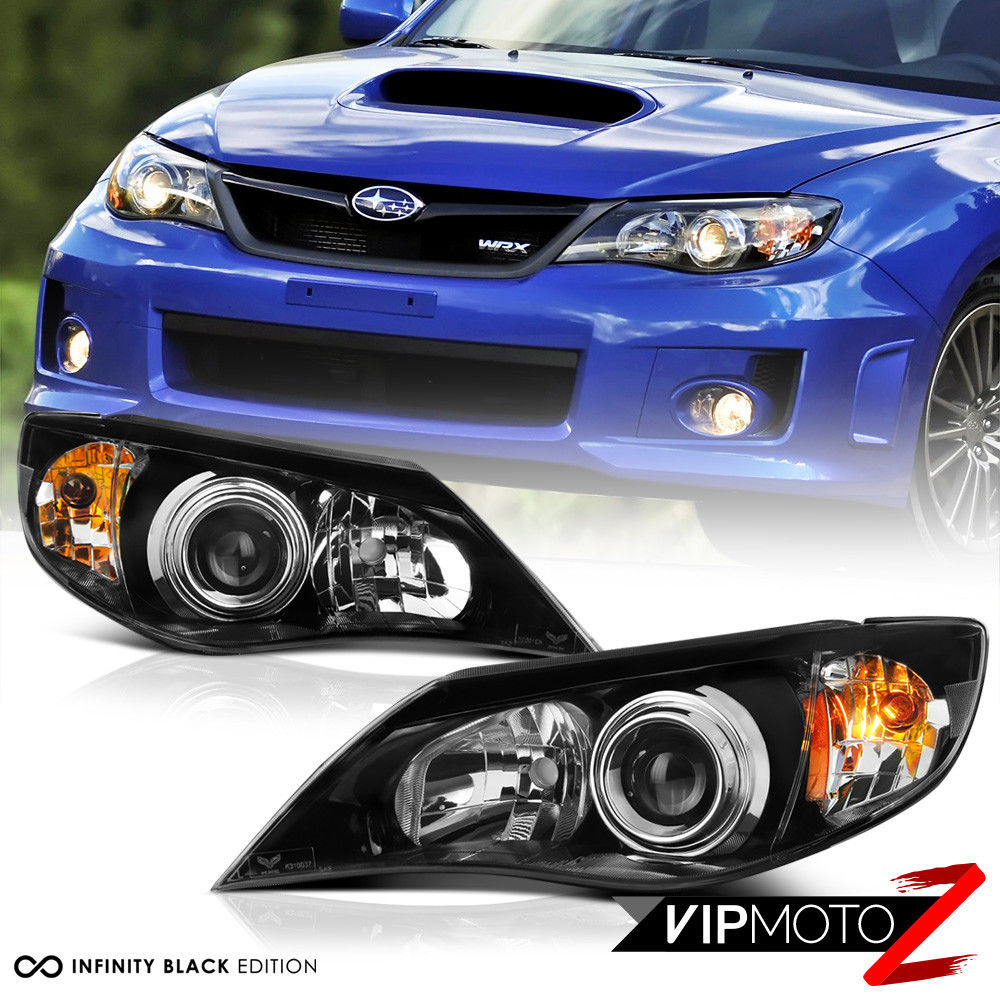 Great Fit 2008 2017 Subaru Impreza Wrx Sti 2 5 Outback Black Front Headlights Embly 2018