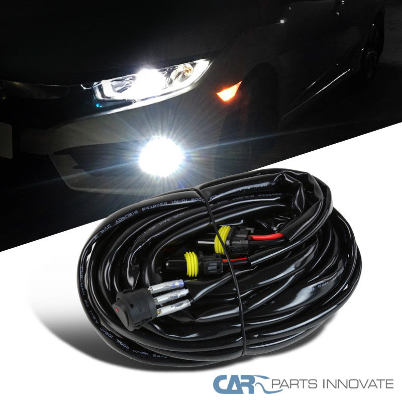 Great For 2 Fog Light Heavy Duty HID LED Wiring Harness 14 Gauge Kit on