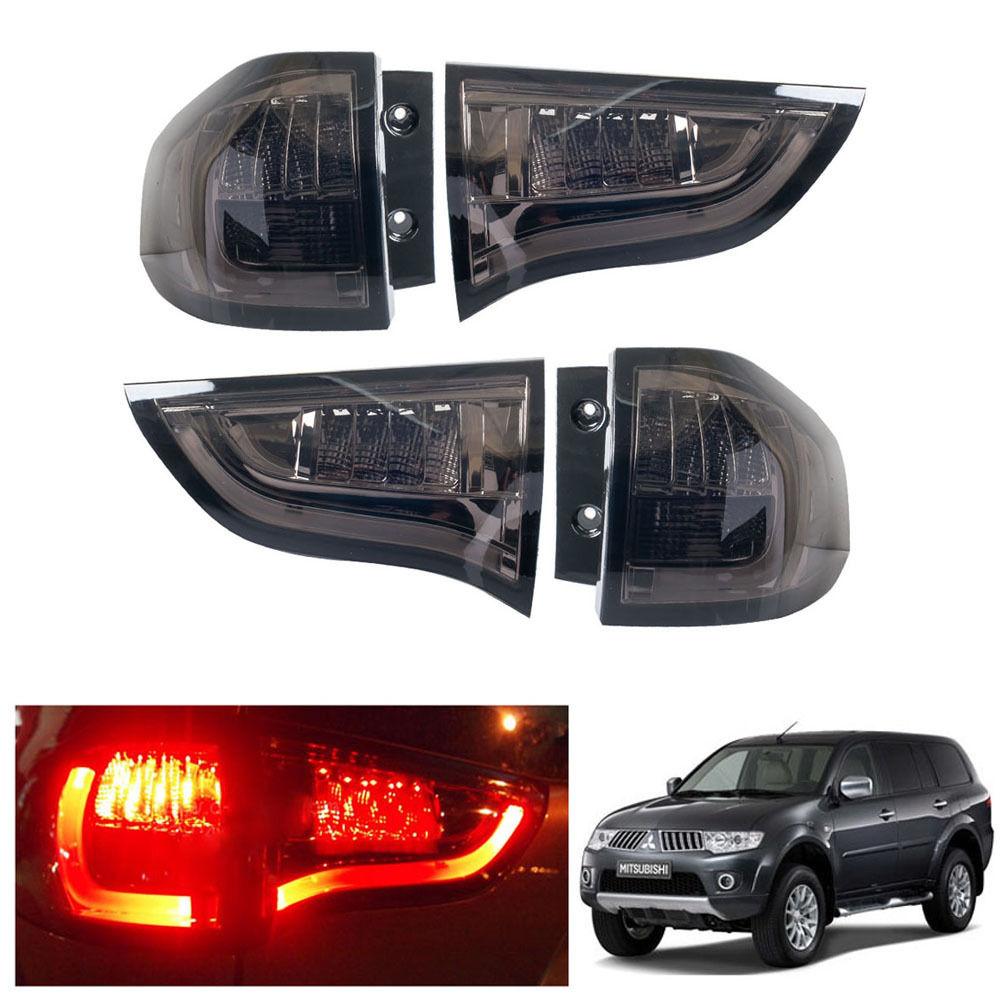 Mitsubishi Montero Pajero Sport Tailgate Spoiler Colour: LED Smoked Tail Light Lamp Fit Mitsubishi Pajero Montero