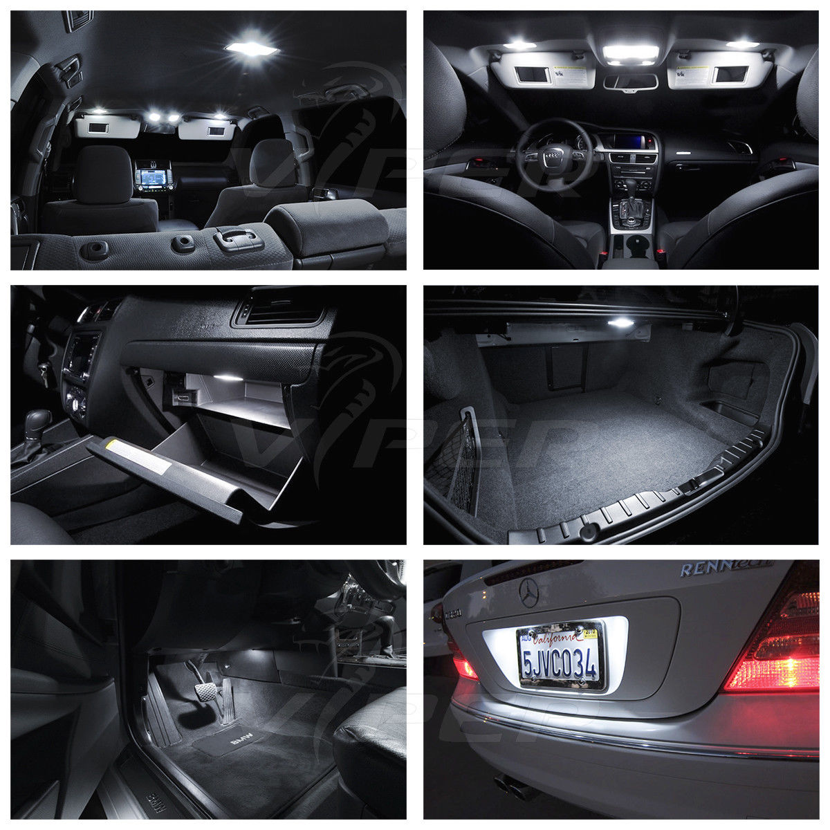 2001-2006 Acura MDX White LED Interior Lights Kit Package