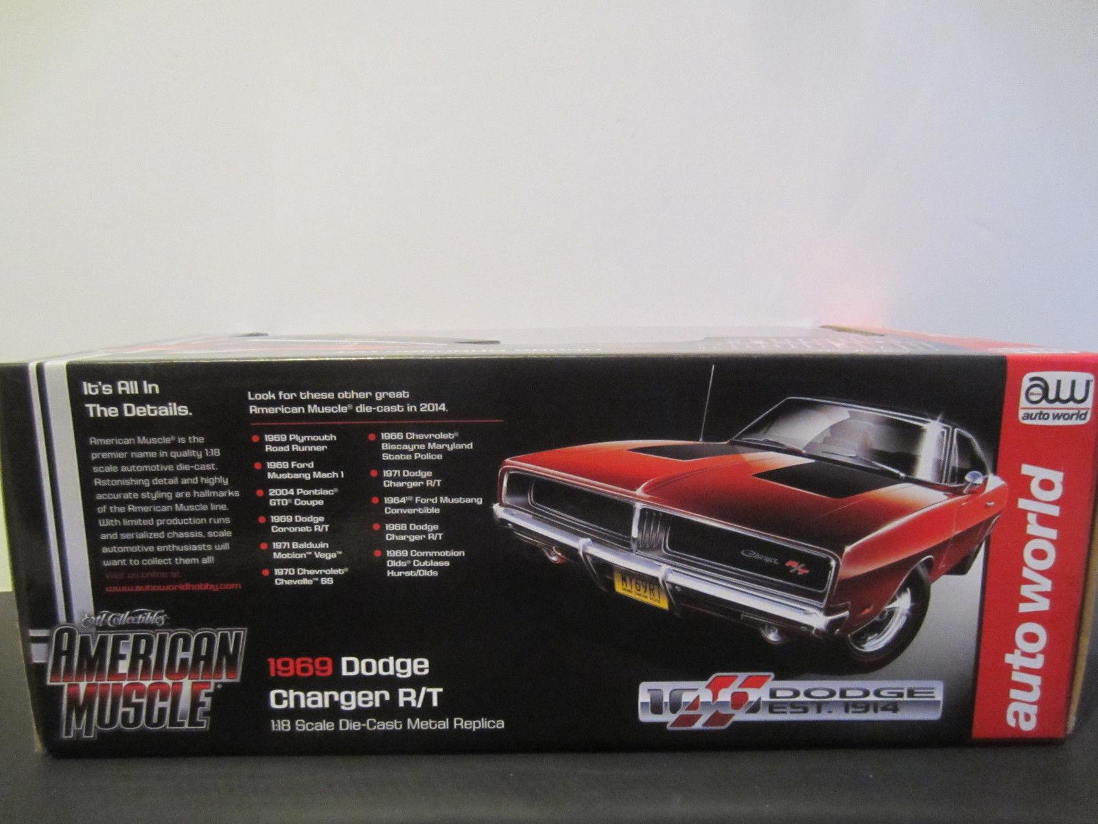 Amazing 1 18 Autoworld 1969 Dodge Charger Rt Hemi Orange 100th 1964 R T Item Specifics