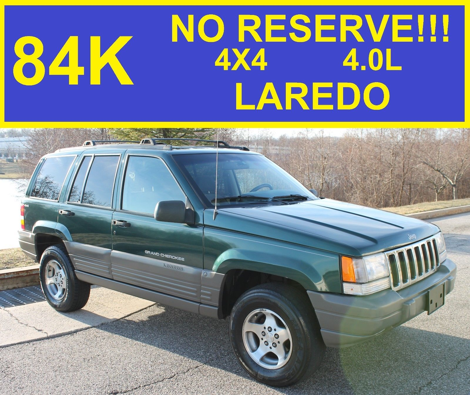 great 1998 jeep grand cherokee laredo no reserve laredo 84k jeep grand cherokee sport 4runner. Black Bedroom Furniture Sets. Home Design Ideas