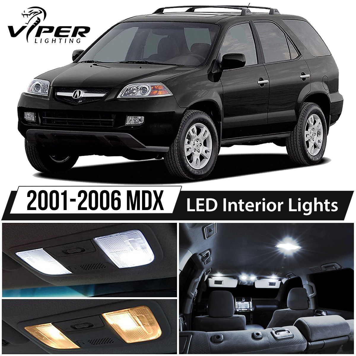 Awesome 2001-2006 Acura MDX White LED Interior Lights Kit