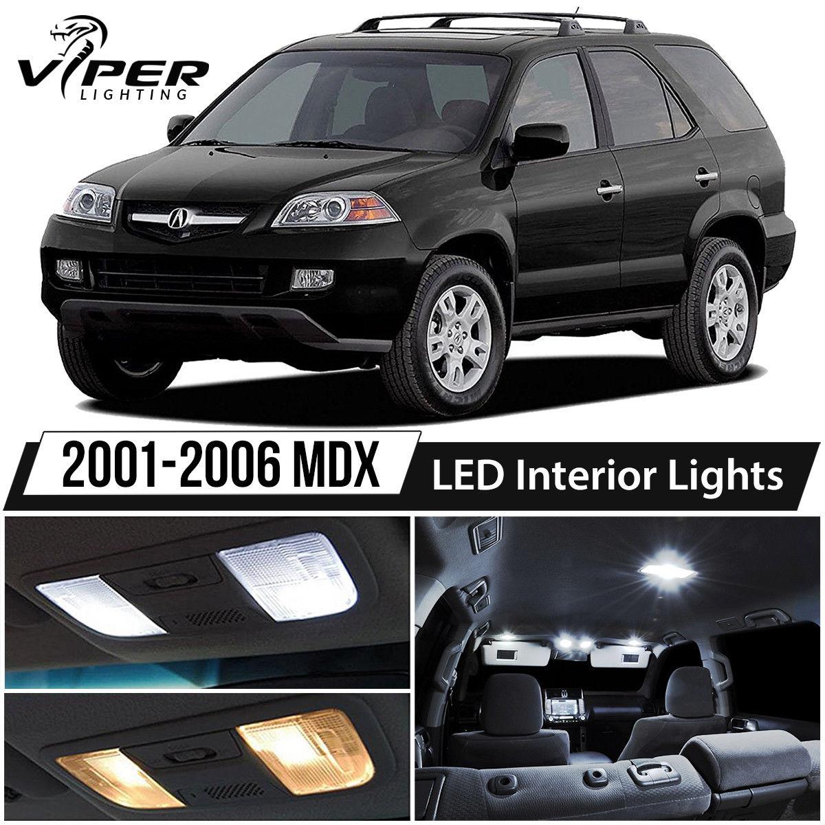 Awesome 2001-2006 Acura MDX White LED Interior Lights Kit