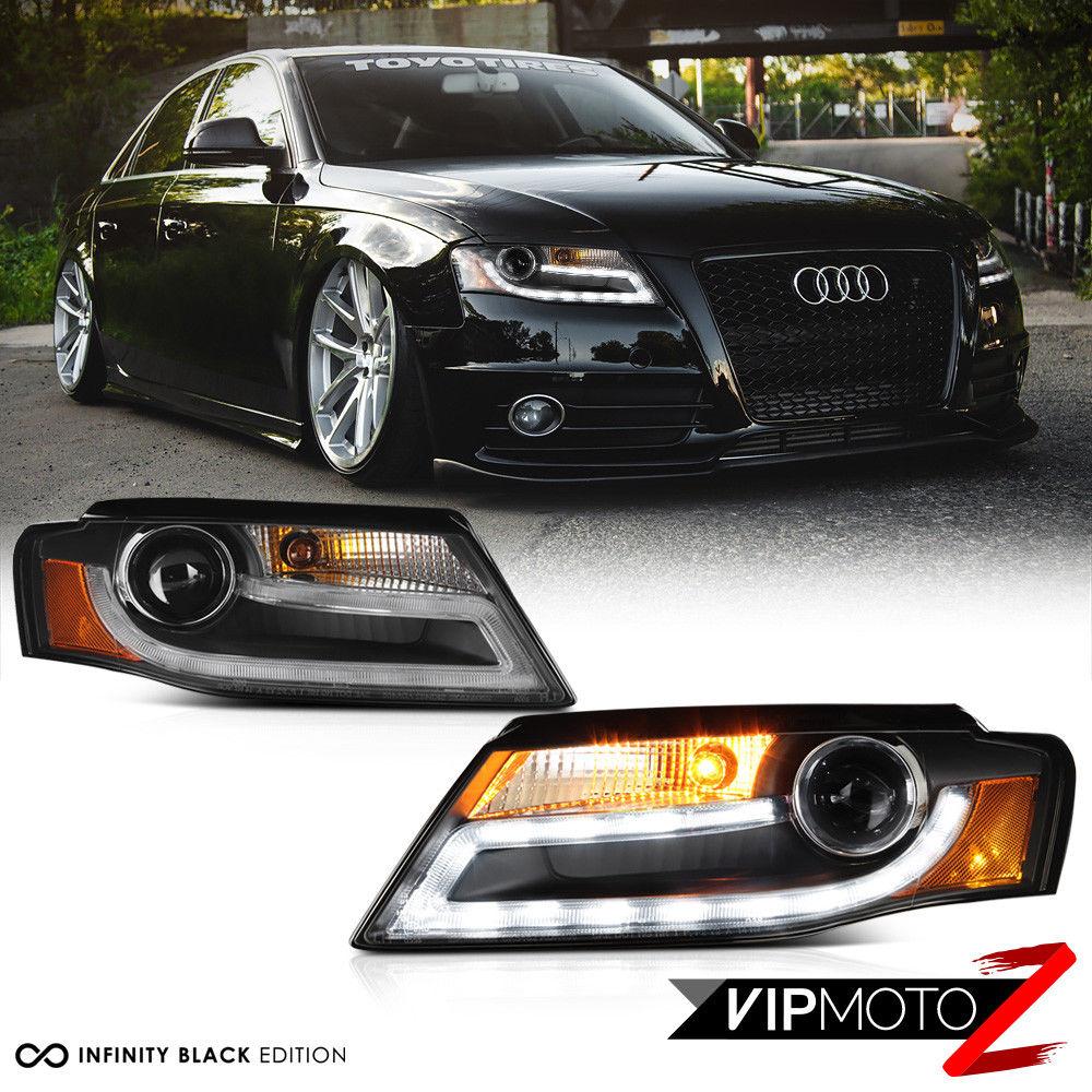 Amazing 2009 2012 Audi A4 B8 Infinity Black Projector Headlight