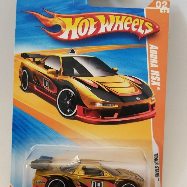 Great Hot Wheels / Acura NSX / Gold & Red