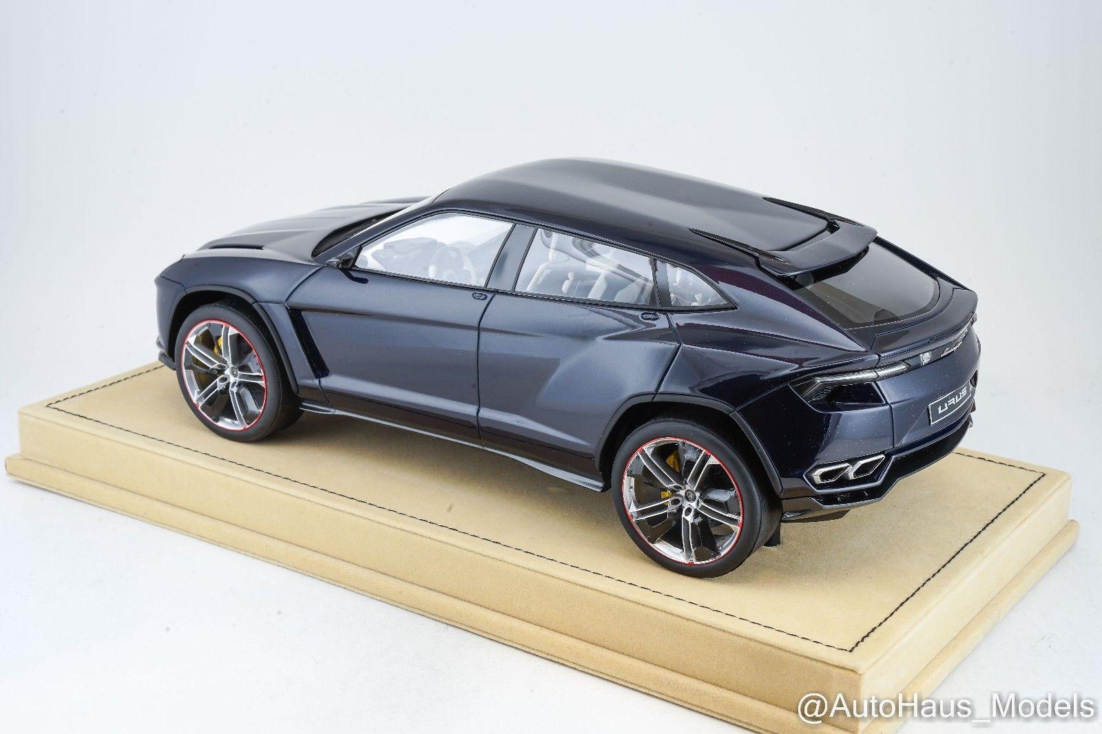 Great 1 18 Mr Lamborghini Urus In Dark Blue Alcantara Base Sold Out