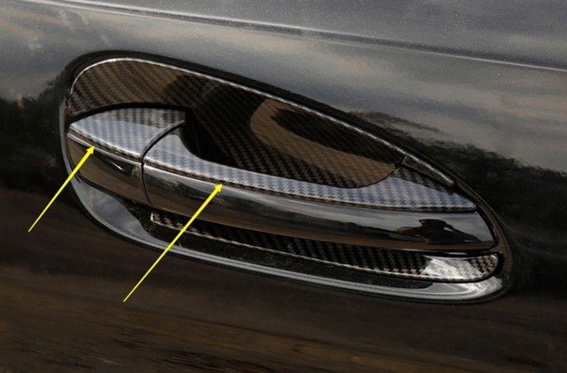 Amazing Carbon Fiber ABS Exterior Door Handle Cover Trim*8 For Mercedes Benz GLE 2015-16 2017/2018 & Amazing Carbon Fiber ABS Exterior Door Handle Cover Trim*8 For ...