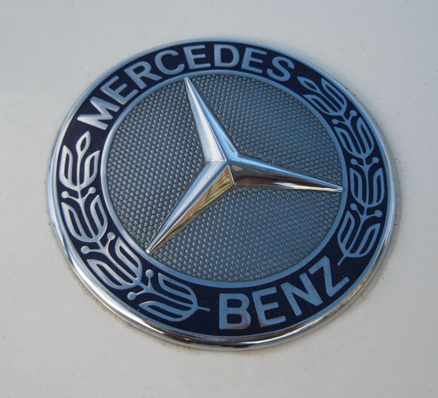 Blue For MERCEDES BENZ C E SL CLS S CLASS FLAT HOOD EMBLEM ORNAMENT A2048170616