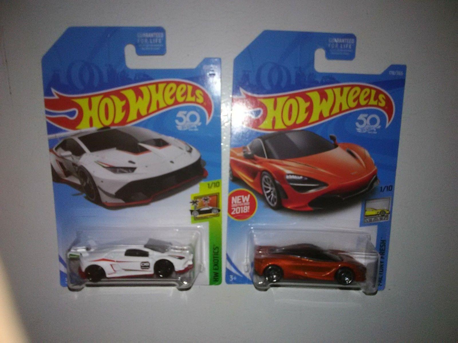 Great Hot Wheels Lot 2 Lamborghini Huracan Super Trofeo White Hw Mc Laren Mclaren 720s Orange 2018 2019