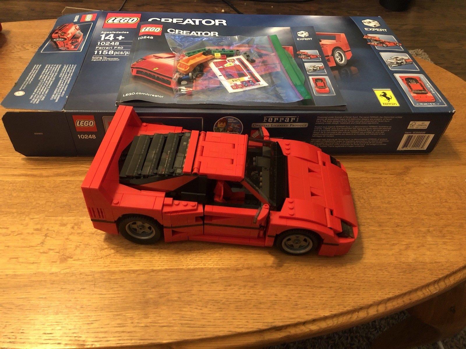 Great Lego Creator Ferrari F40 10248 Complete With Box And