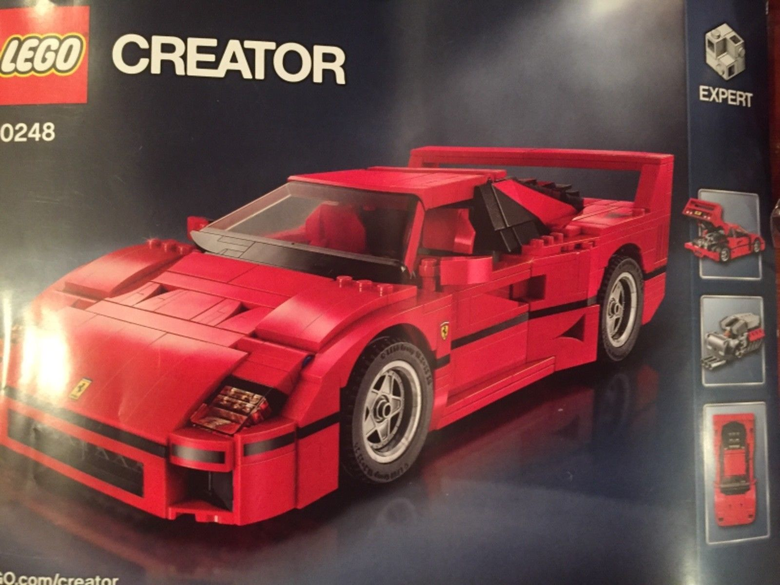 amazing lego creator ferrari f40 set 10248 preowned 2018. Black Bedroom Furniture Sets. Home Design Ideas