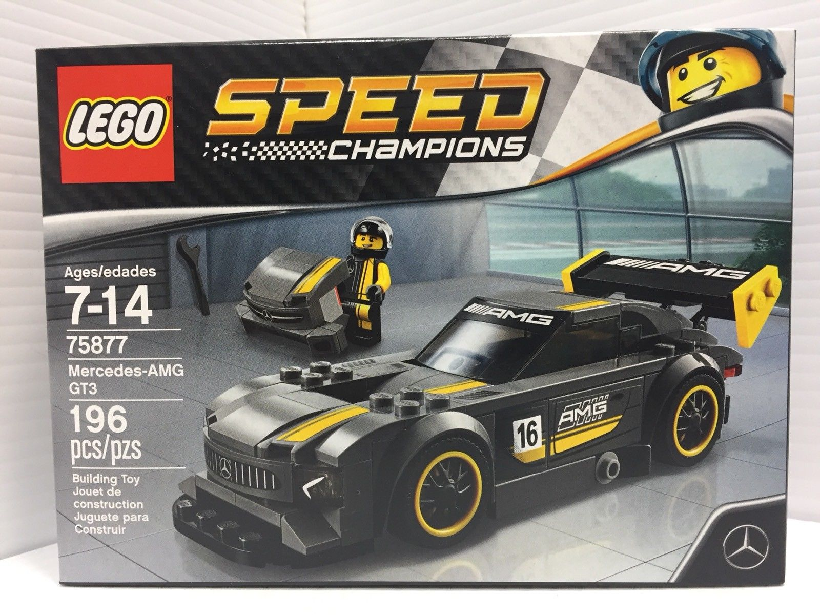 awesome lego speed champions mercedes amg gt3 2017 75877. Black Bedroom Furniture Sets. Home Design Ideas