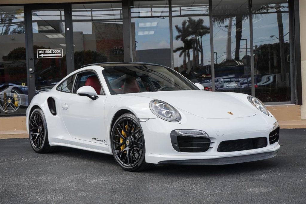 Amazing Porsche 911 2dr Coupe Turbo S 16 560 Hp 20 Black Wheels Pdk White Dials Sport Chrono 2017 2018