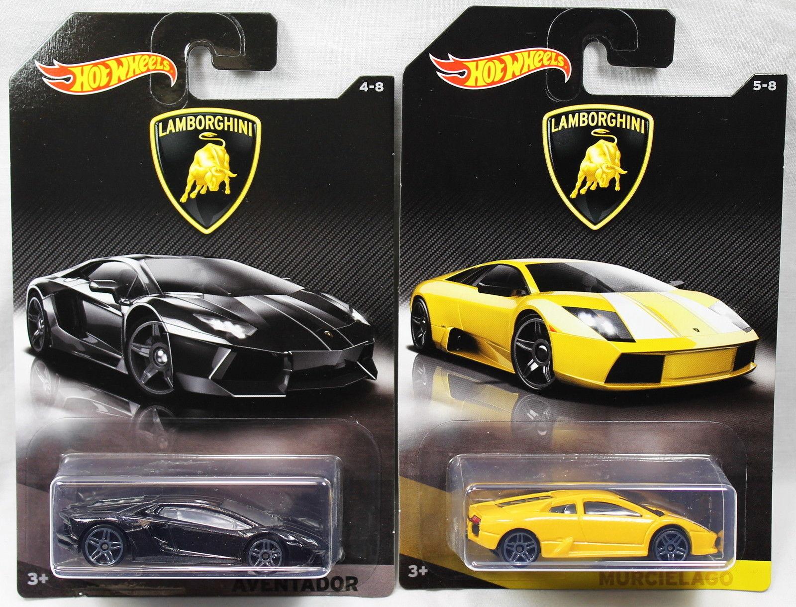 Awesome Set Of 2 2017 Hot Wheels Lamborghini Aventador Murcielago