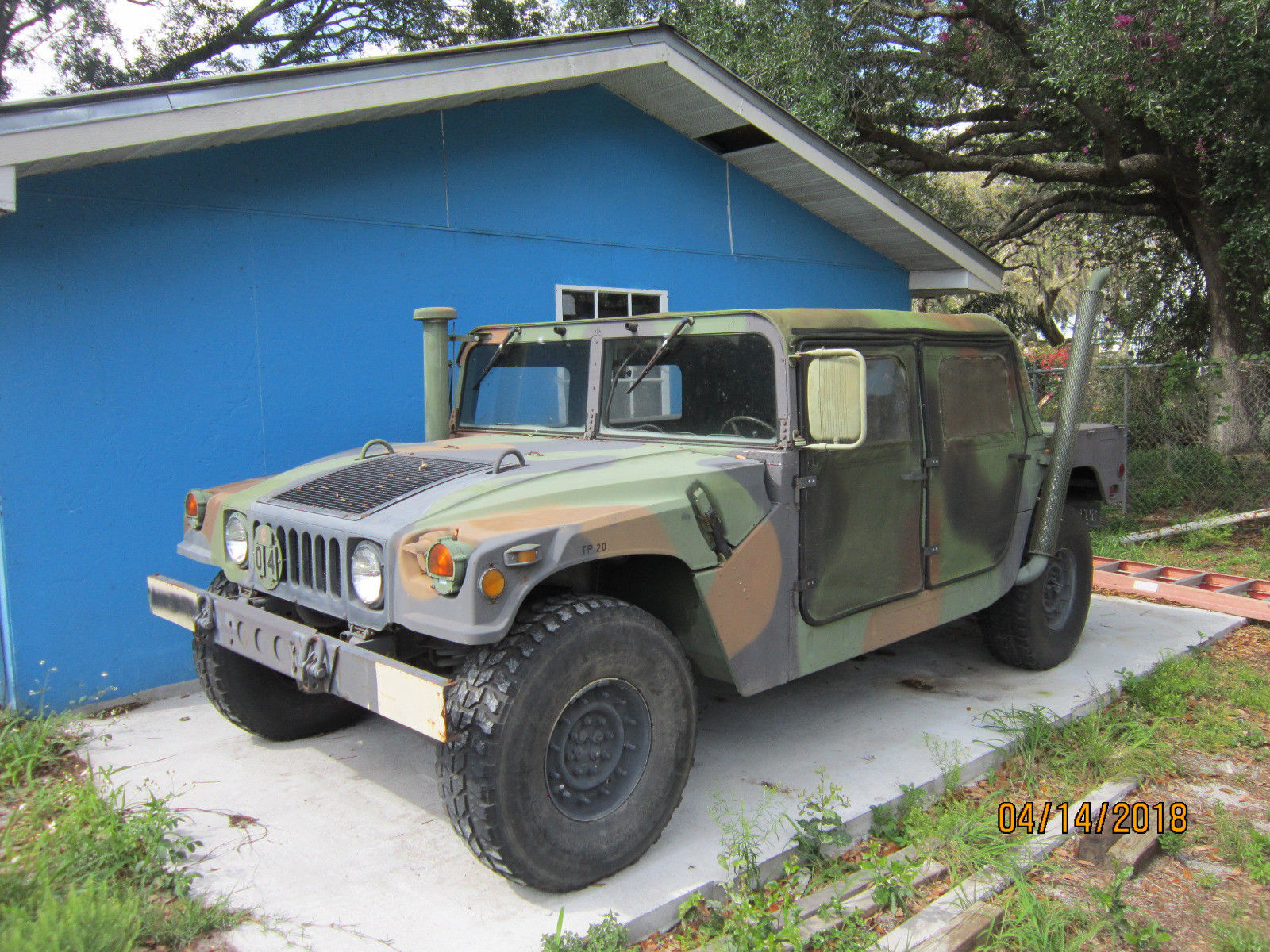 Awesome military hummer humvee h11 m11 am general 11 door 1111k miles street  title 20118-20119 | military h1 hummer