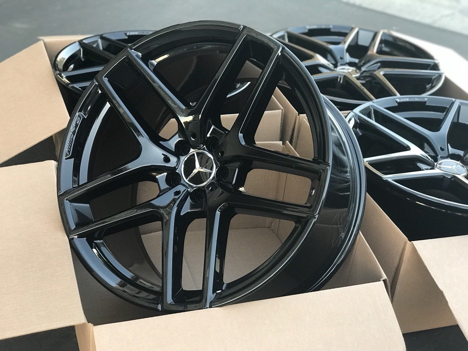 amazing  mercedes gle factory amg wheels oem rims gle gle gle ml  black