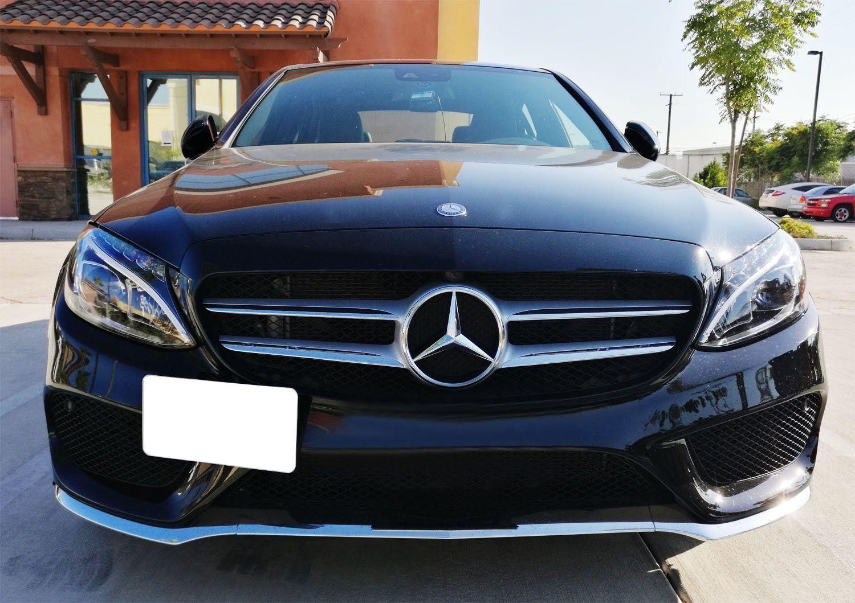 Bumper Tow Hook License Plate Mount Bracket For Mercedes C E GLK GLC GLE Class