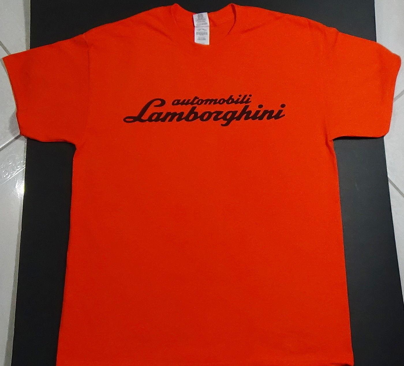 amazing brand new lamborghini t shirt logo badge emblem. Black Bedroom Furniture Sets. Home Design Ideas