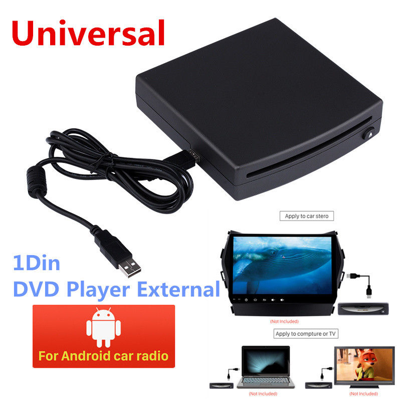 1 Din HD Car Radio DVD Player External Android Stereo USB