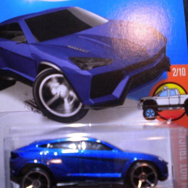 Amazing Hot Wheels Lamborghini Urus Blue Hw Hot Truck Card 2015 Momc