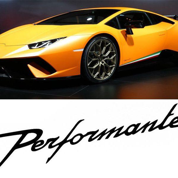Amazing Performante Style Like Lamborghini Style Logo Vinyl Decal