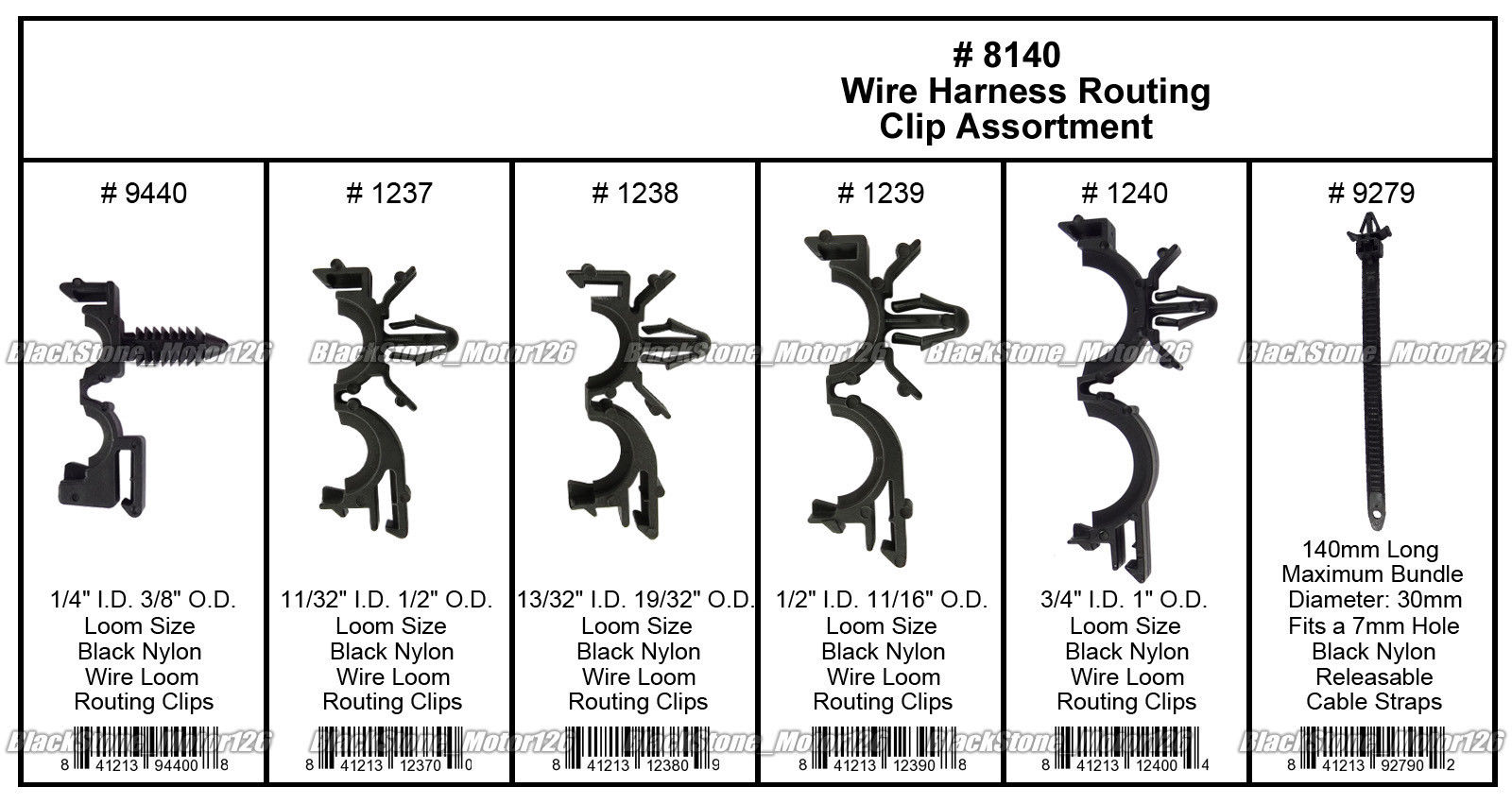 Great 54 x Wiring Harness Wire Loom Routing Clips Assortment Convoluted  Conduit For GM 2018-2019