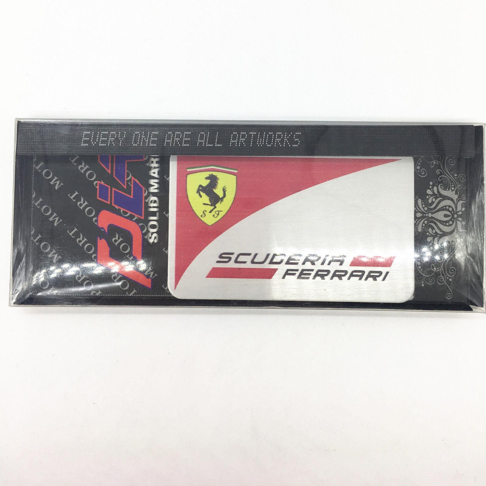 Metal car badge logo scuderia aluminum stickers fit for Ferrari