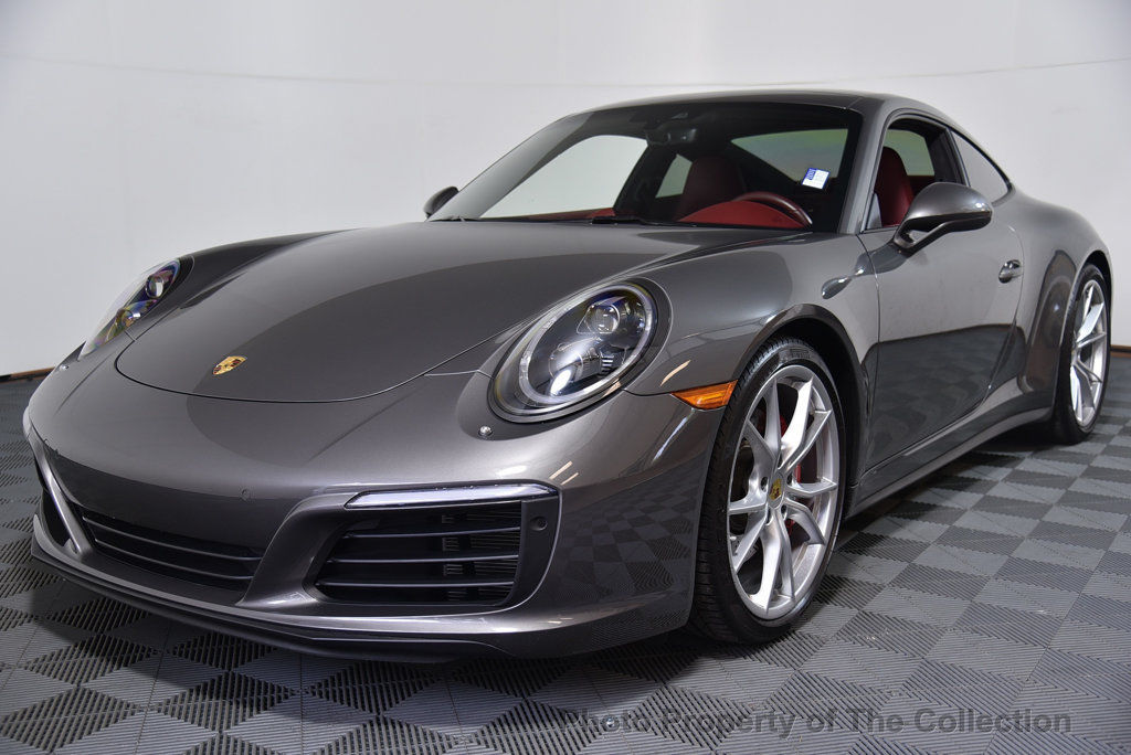 awesome  porsche  carrera  coupe   cs  stunning bordeaux red interior